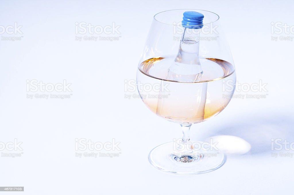 Brandy glas and shot stock photo
