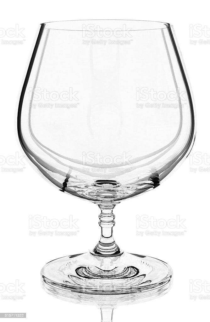 Weinbrand Glas auf Weißer Hintergrund Lizenzfreies stock-foto