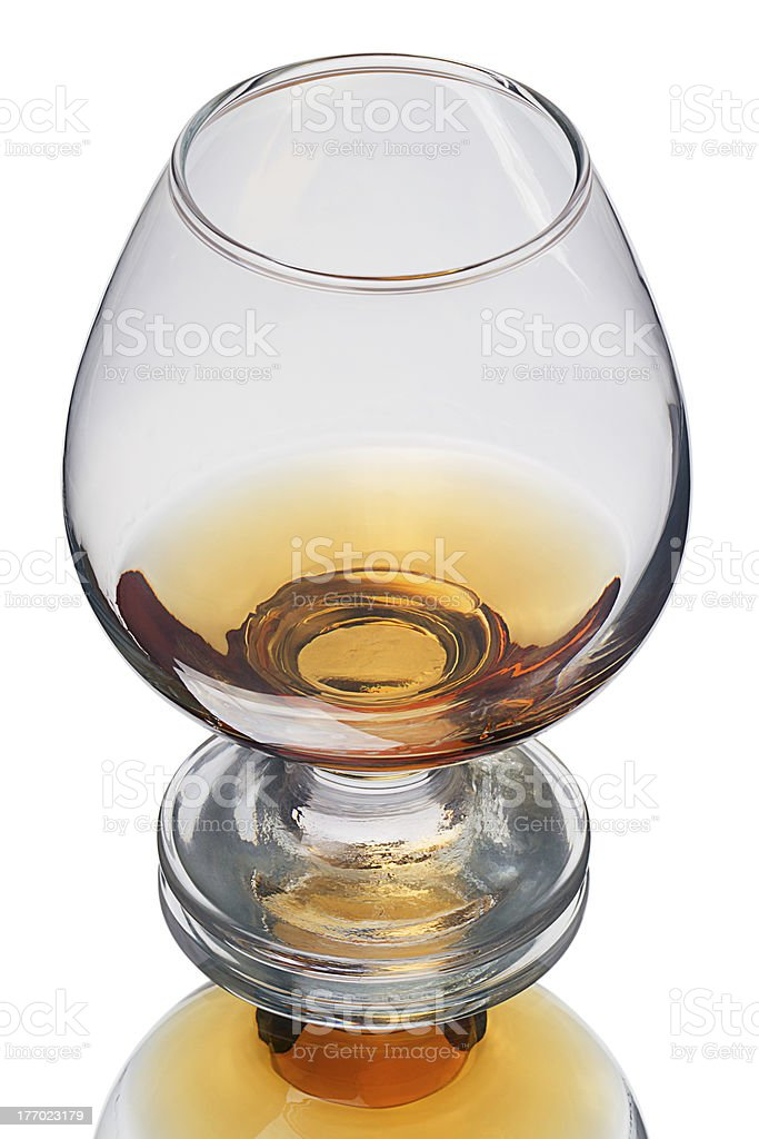 Brandy glass on white royalty-free stock photo