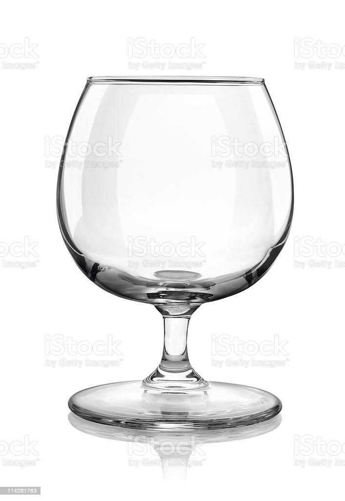 Brandy glass stock photo