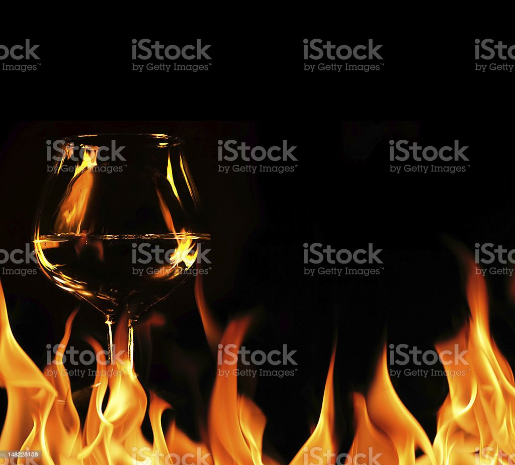 Brandy glass royalty-free stock photo