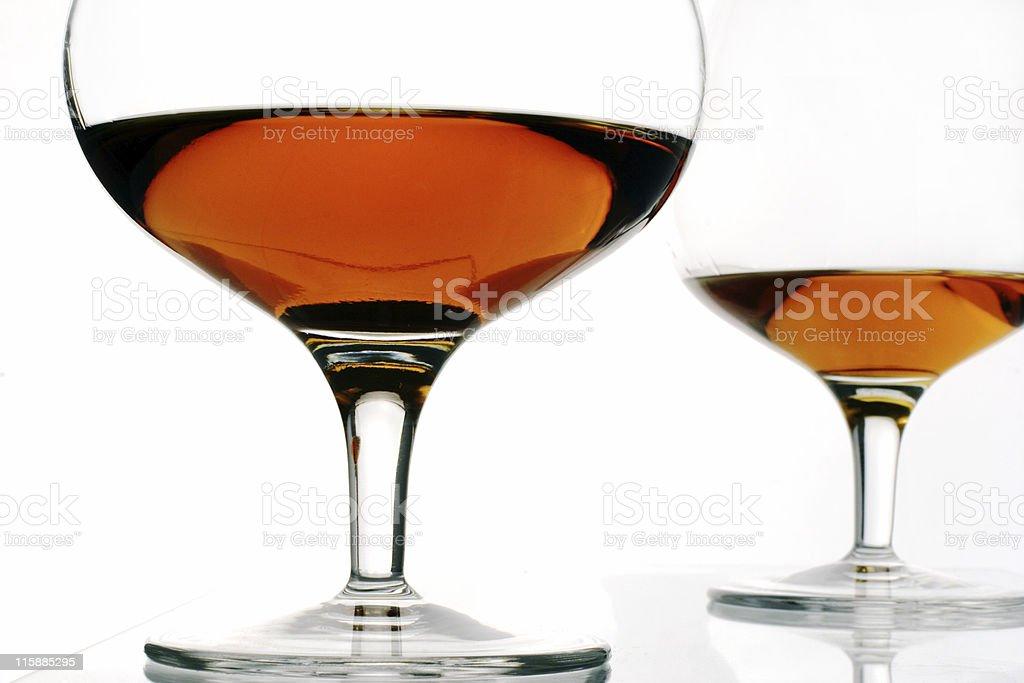 brandy glasses royalty-free stock photo