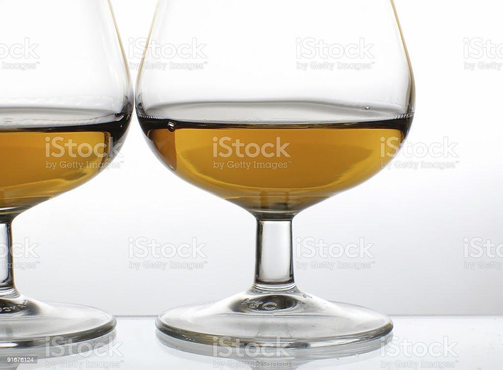 Brandy glasses stock photo