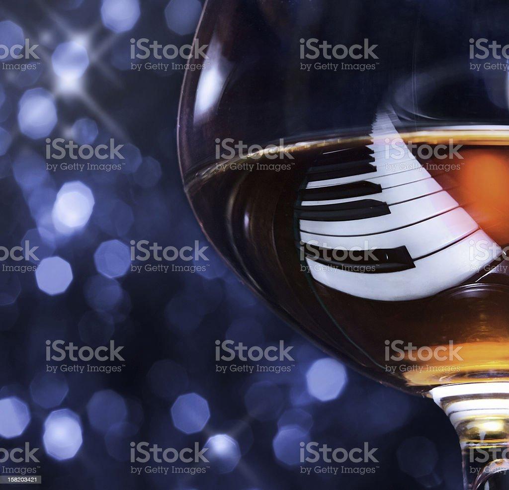 brandy on a piano stock photo