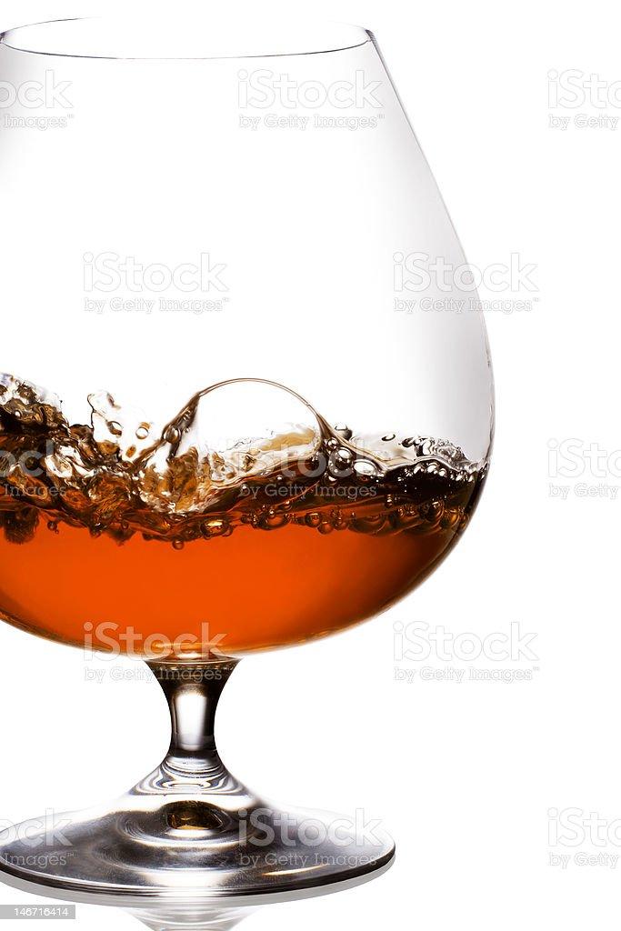 Brandy Splash royalty-free stock photo
