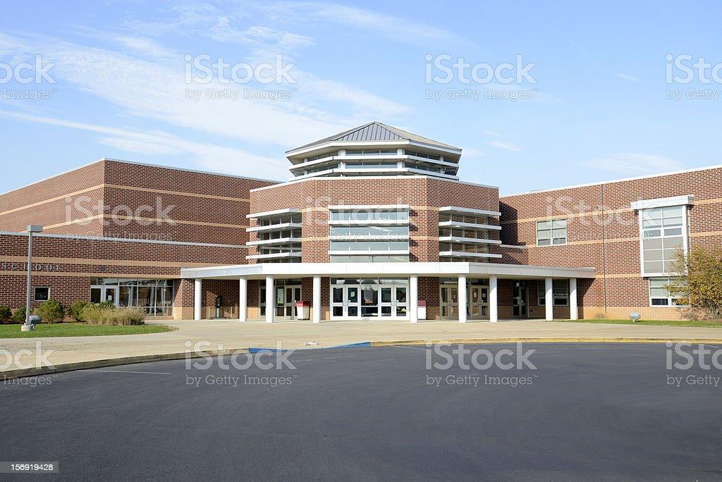 Brandywine Heights High School in Topton, Pennsylvania stock photo