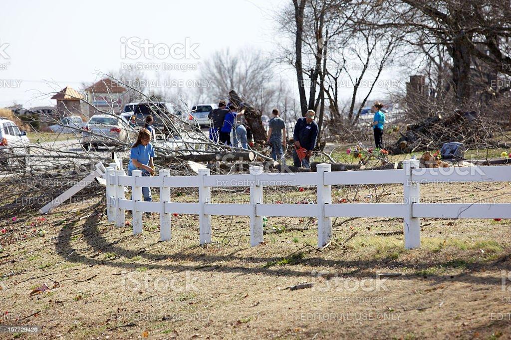Branson Missouri destructive Tornado aftermath royalty-free stock photo