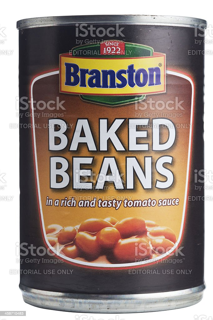 Branston's baked beans can. royalty-free stock photo