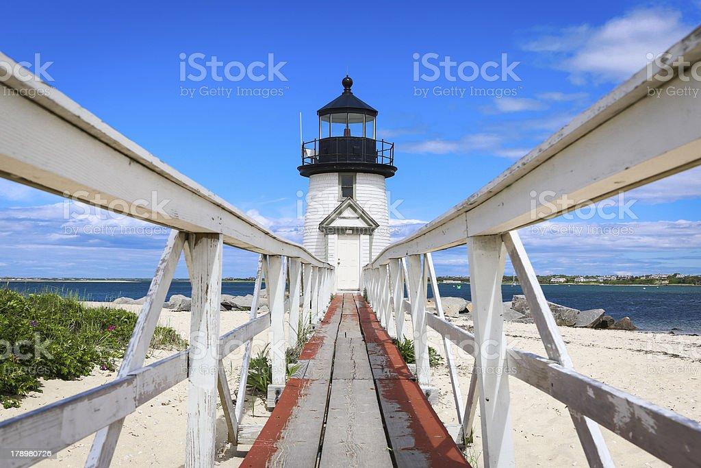 Brant Point light house stock photo