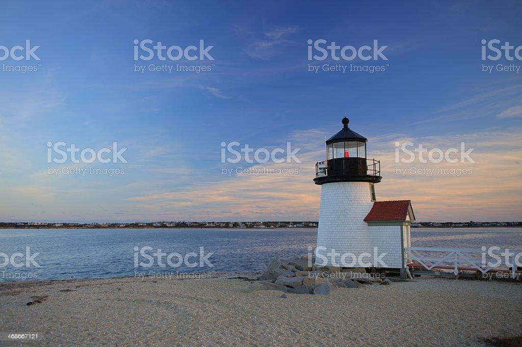 Brant Point Lighthouse Nantucket MA Stock Image stock photo