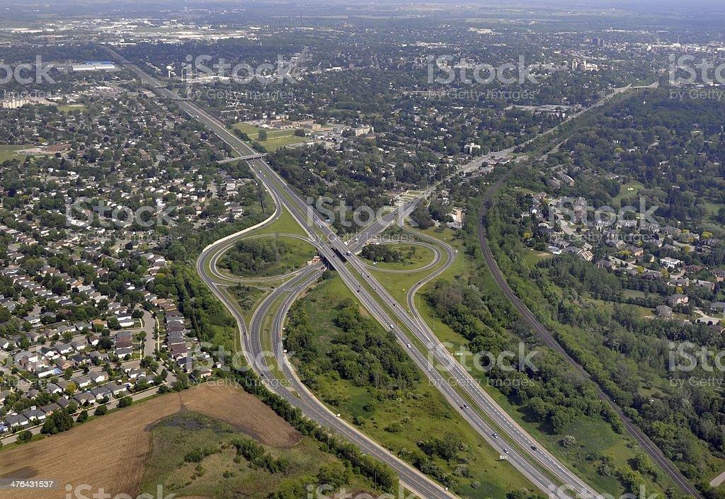 Brantford, aerial royalty-free stock photo