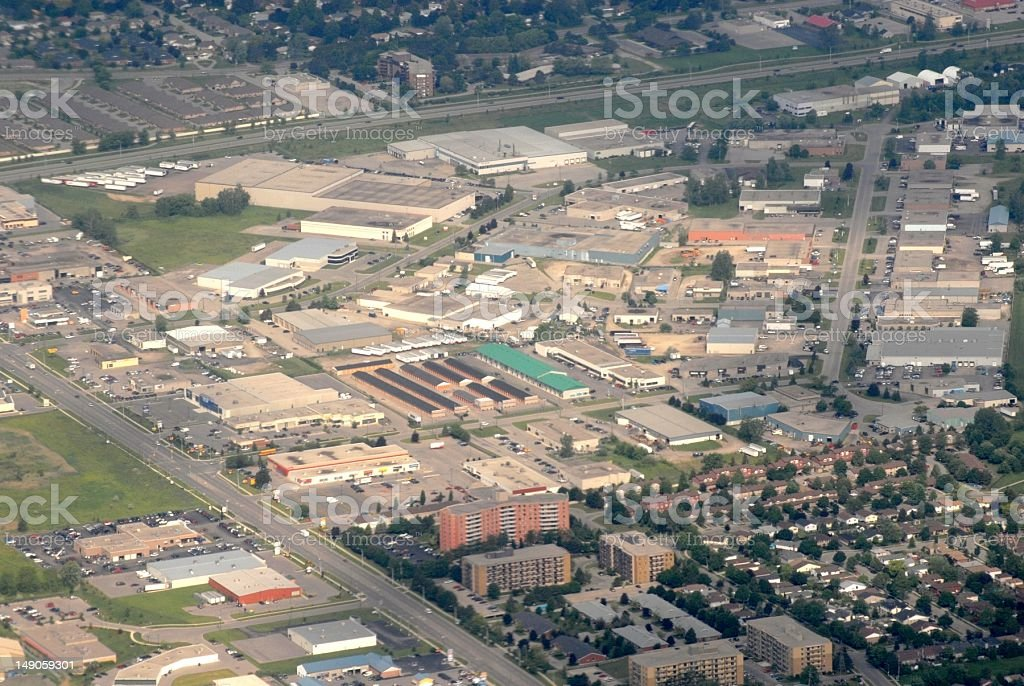Brantford Ontario, aerial royalty-free stock photo