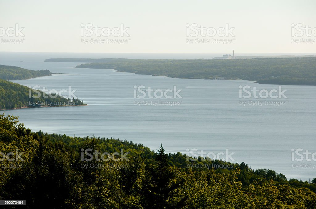 Bras D'Or Lake - Nova Scotia - Canada stock photo