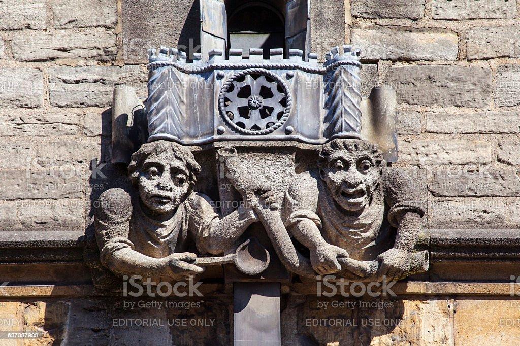 Brasenose College Gargoyle in Oxford stock photo