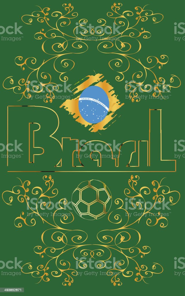 Brasil soccer background green stock photo