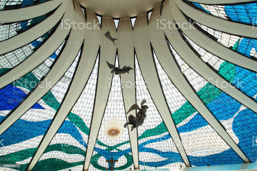 Brasilia Cathedral, Brazil stock photo