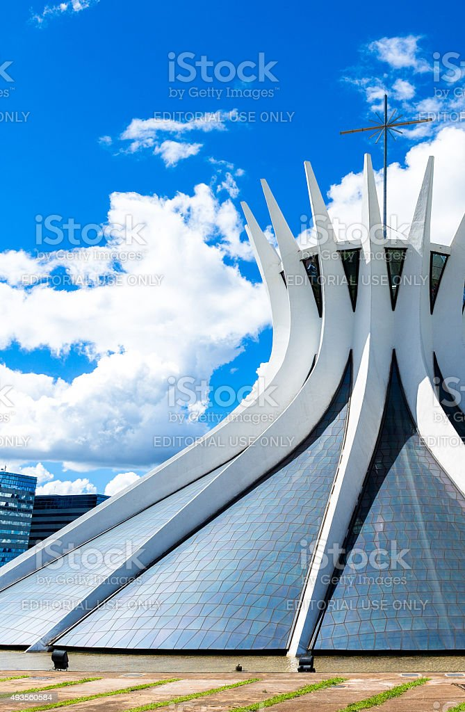 Brasilia Cathedral in Brazil stock photo