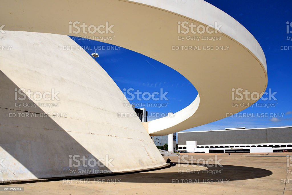 Brasilia, Federal District, Brazil: Cultural Complex of the Republic stock photo