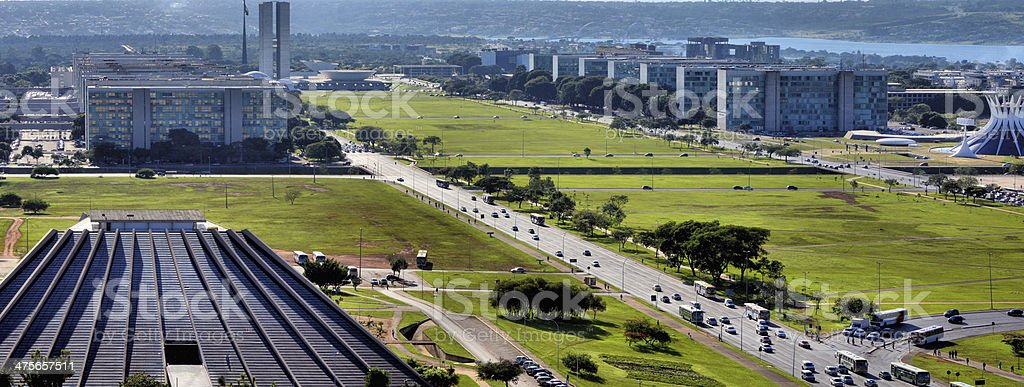 Brasilia skyline stock photo
