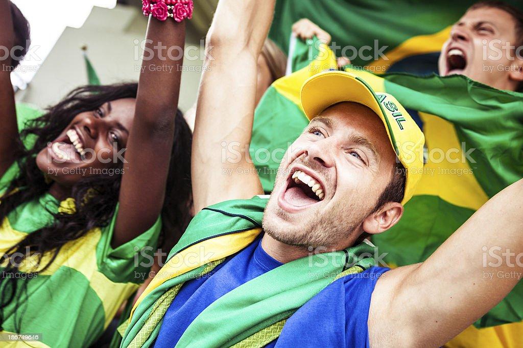 Brasilian fans royalty-free stock photo