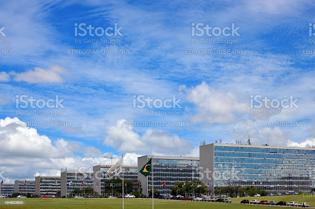 Brasilian government buildings - Brazilia stock photo