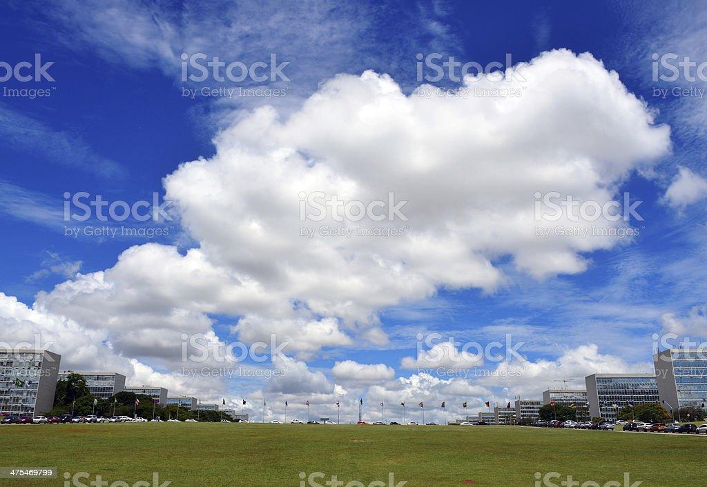 Brasília: Ministries Esplanade - the Brazilian Government stock photo