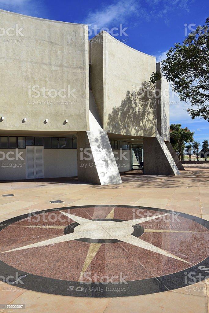 Bras?lia's state run planetarium royalty-free stock photo