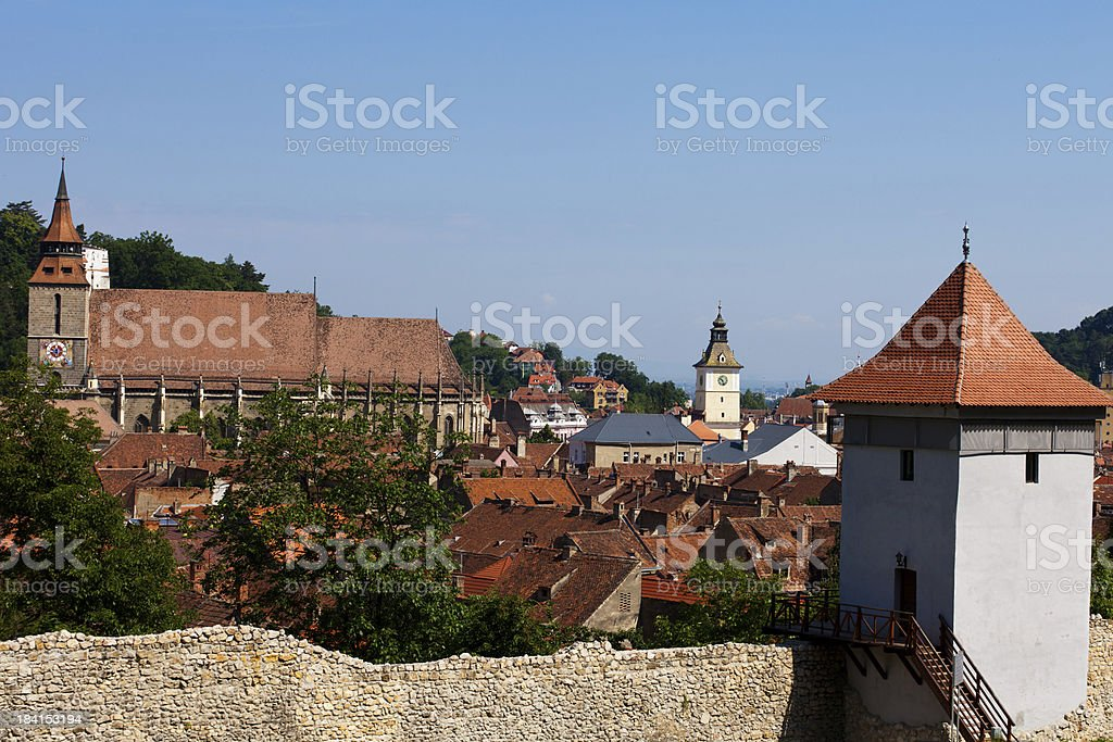 Brasnoc City walls, Romania stock photo