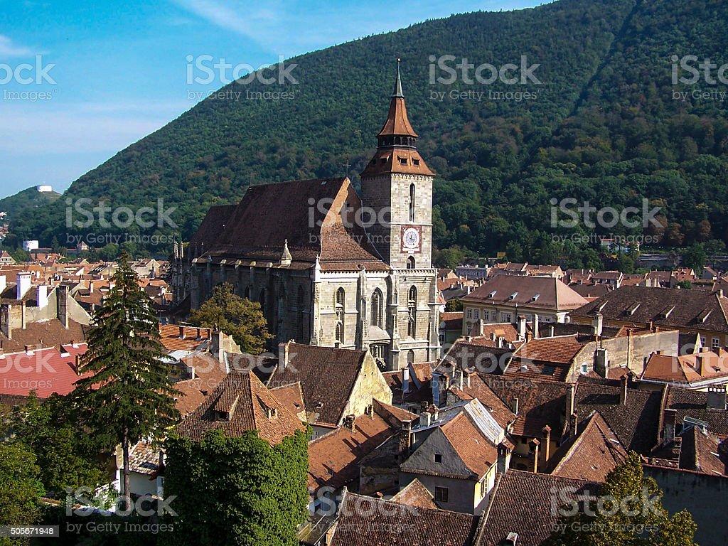 Brasov Black Church stock photo