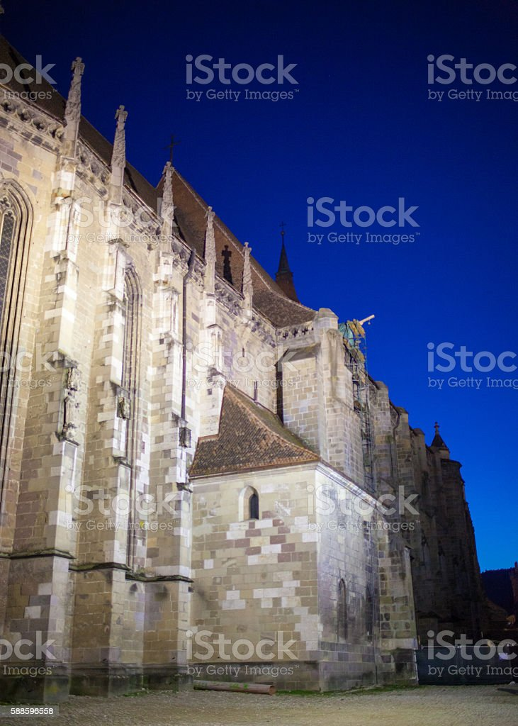Brasov Black Church stock photo