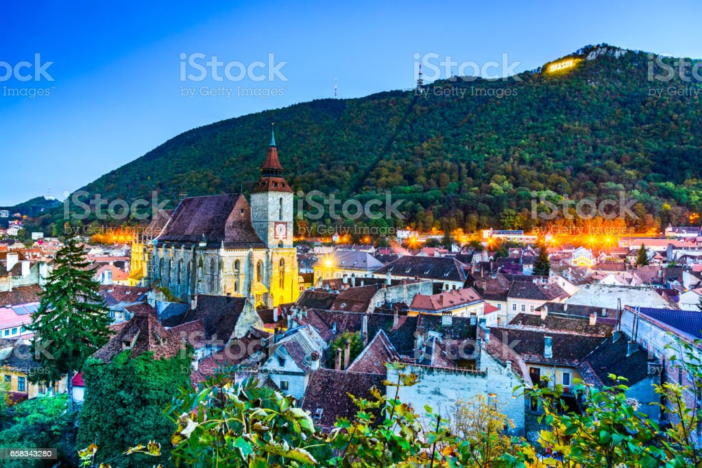 Brasov, Black Church - Transylvania, Romania stock photo