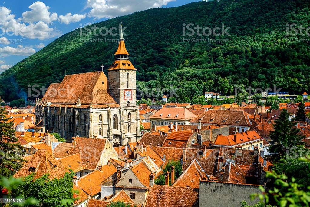 Brasov cityscape in Romania stock photo