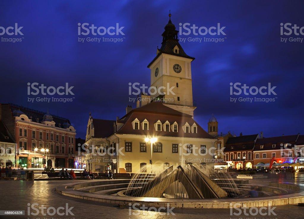 Brasov Council Building on Piata Sfatului. Romania stock photo