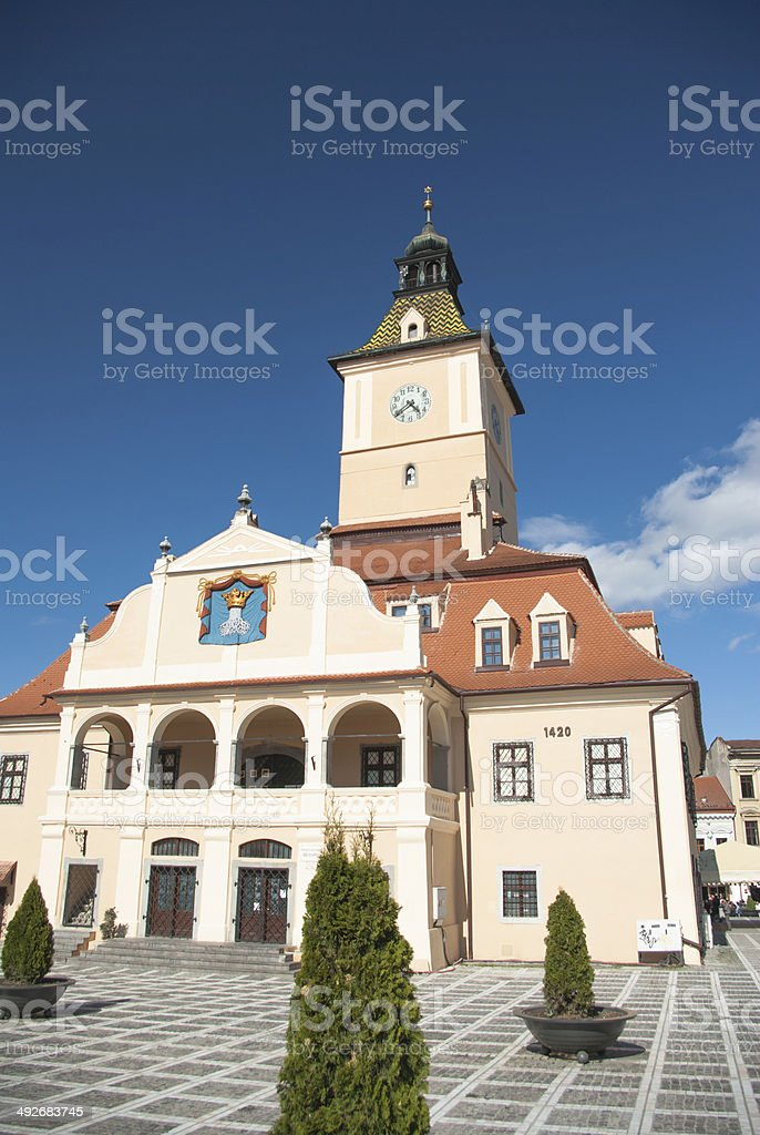 Brasov, Council House and Council Square stock photo