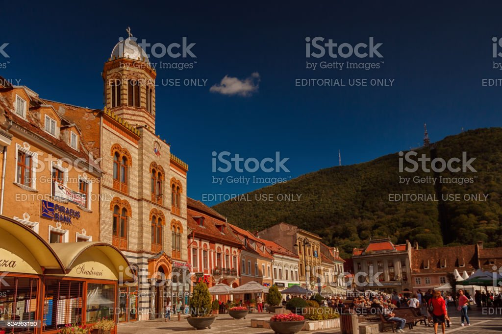 Brasov downtown stock photo
