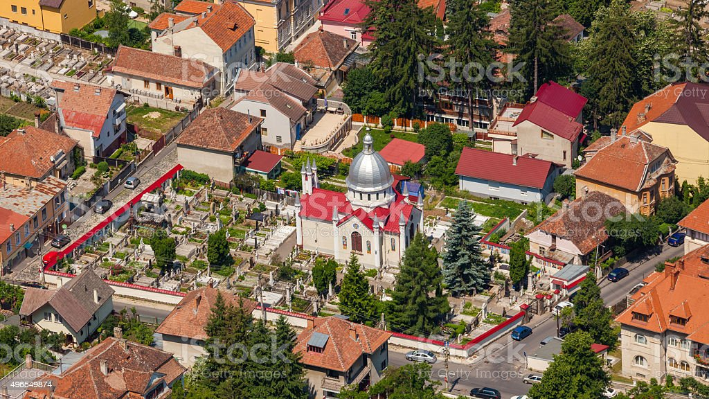 Brasov in Romania, Transylvania stock photo