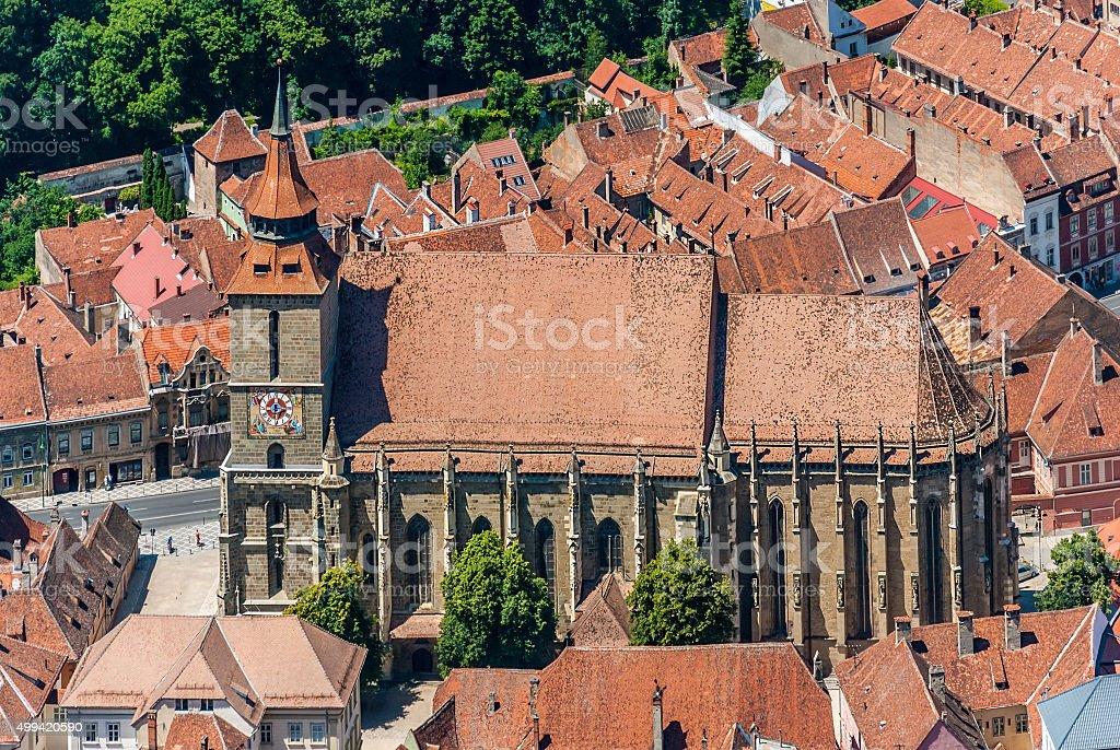 Brasov landmark - Black church stock photo