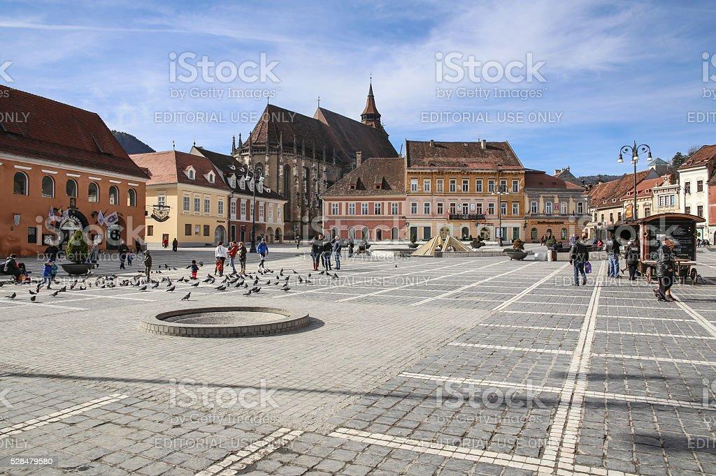 Brasov Main Square stock photo