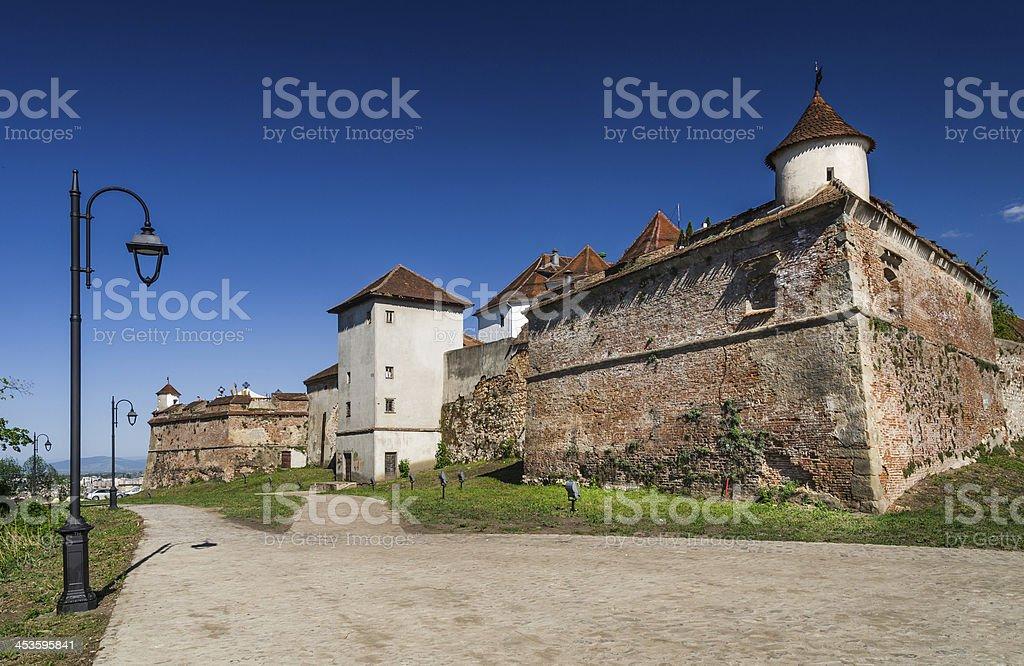 Brasov medieval fortress, Transylvania, Romania royalty-free stock photo