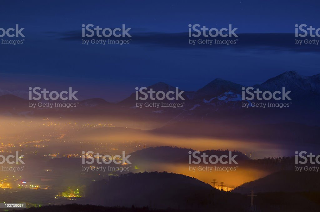 Brasov overview royalty-free stock photo