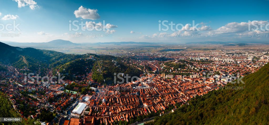 Brasov panorama stock photo
