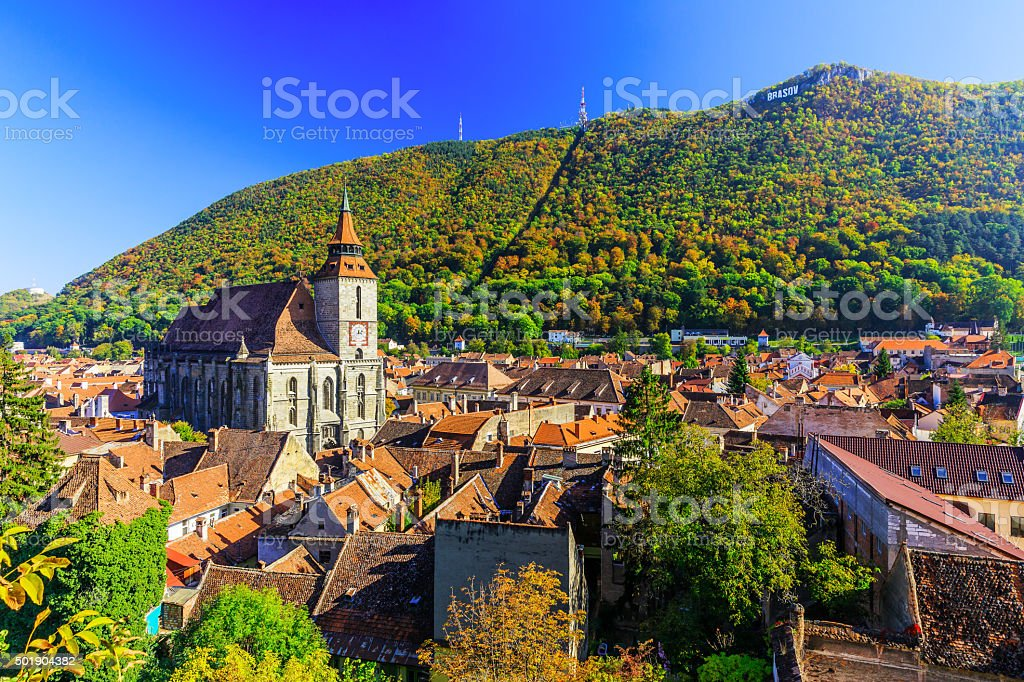 Brasov, Transylvania. Romania stock photo