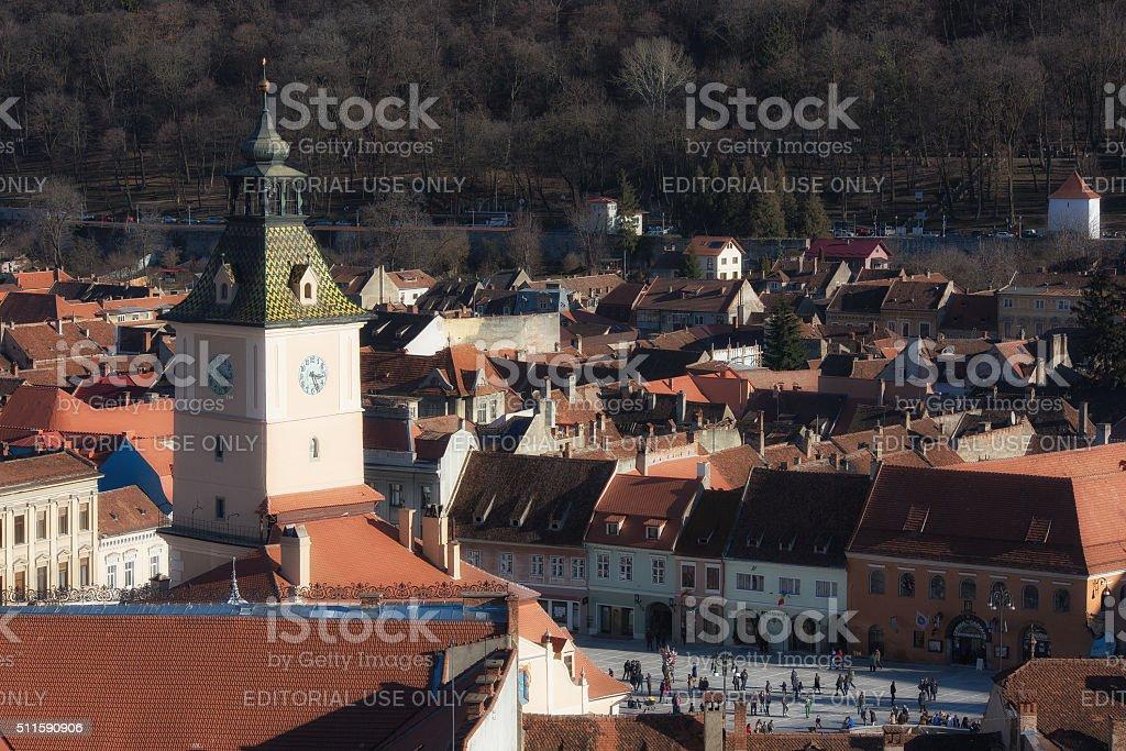 Brasov, Romania - February 06, 2016. Brasov, Transylvania, Romania. stock photo