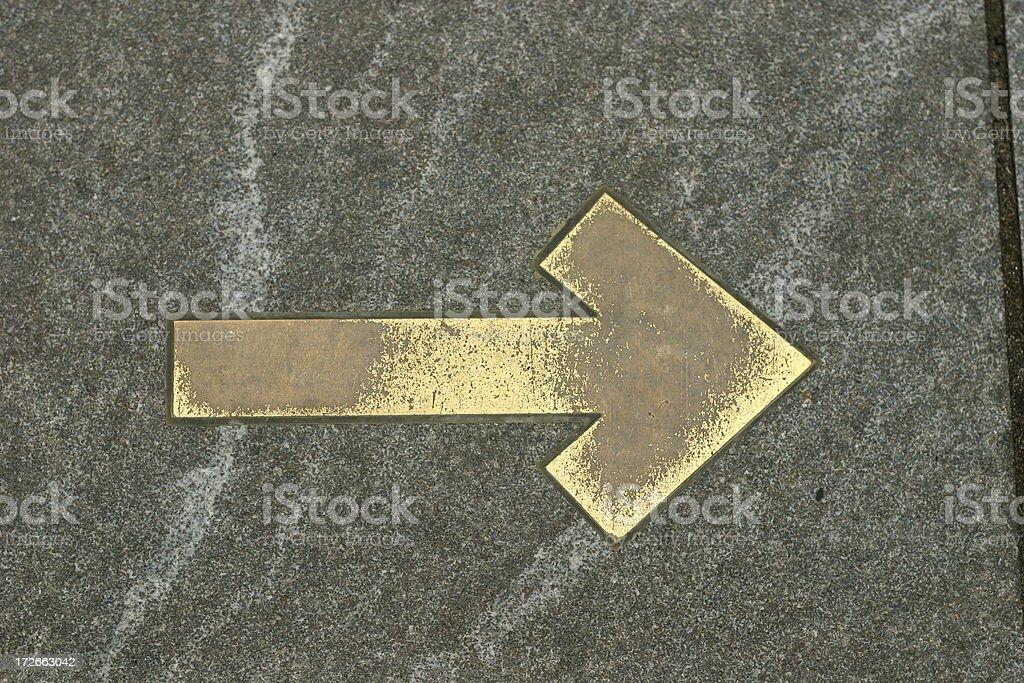 brass arrow royalty-free stock photo