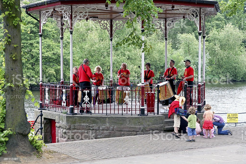 Brass band, Chester royalty-free stock photo