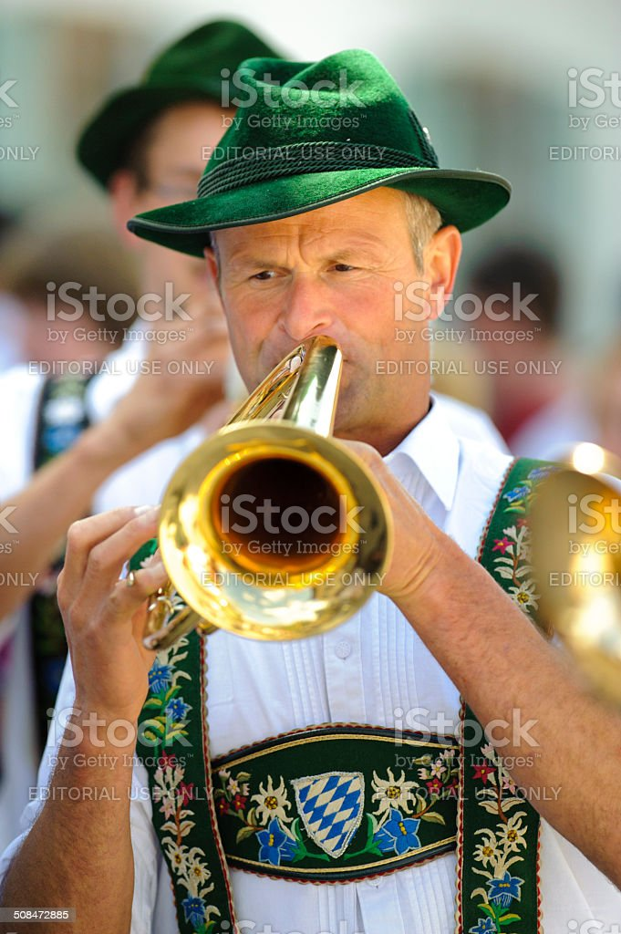 Brass band in Bavaria stock photo