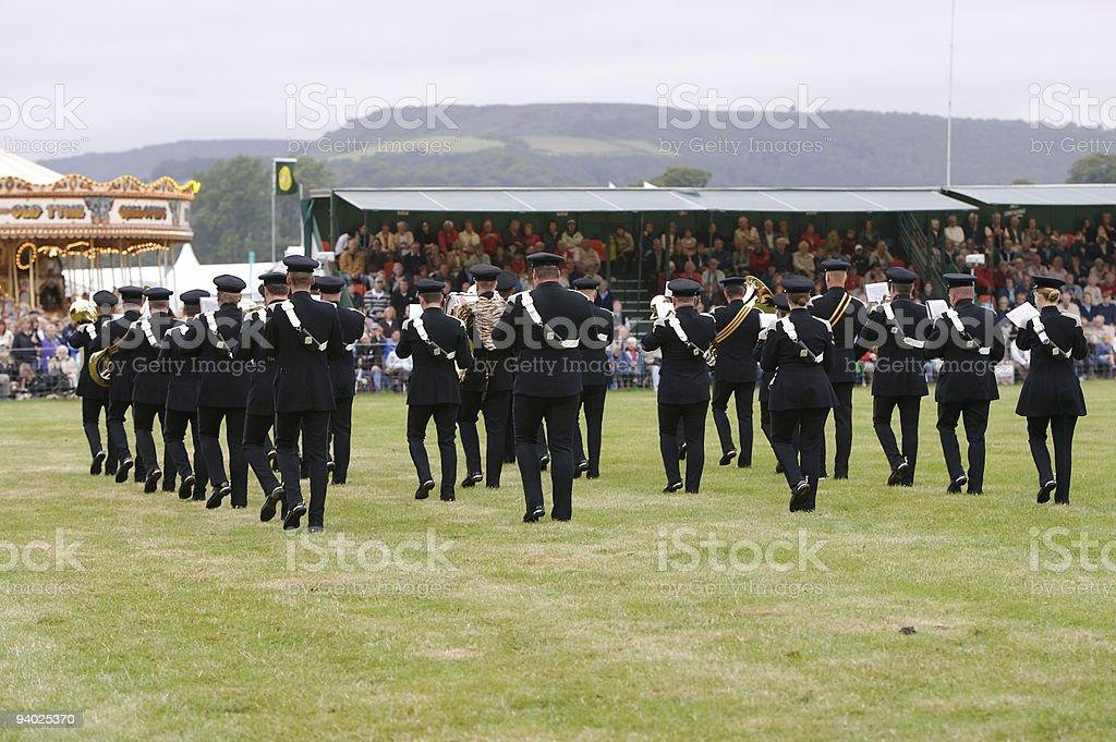 Brass Band in the Rain stock photo