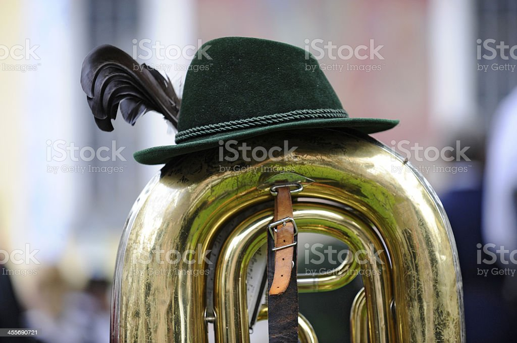 Brass band music in Bavaria stock photo