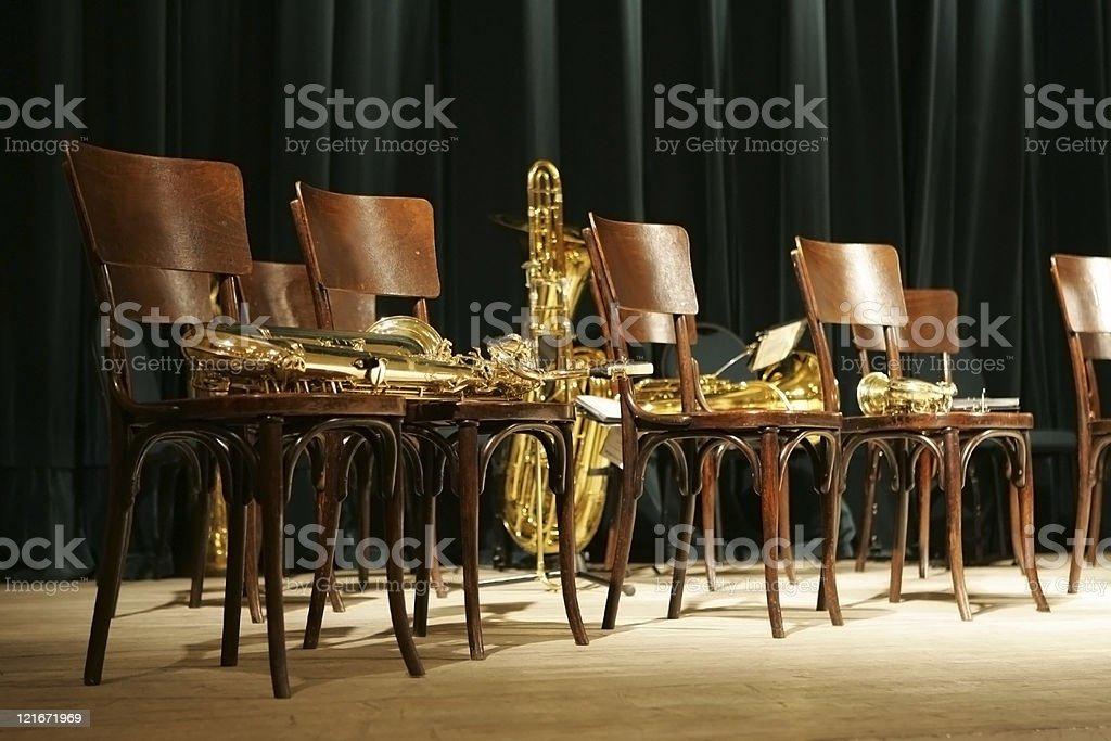brass band perfomance stock photo