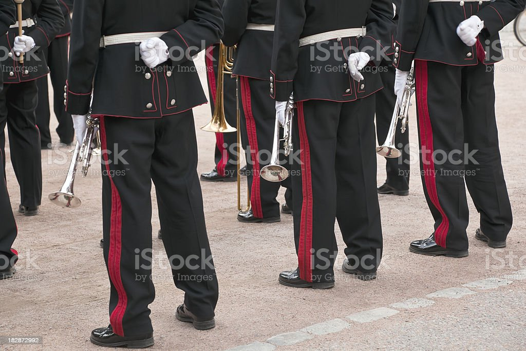 Brass band. royalty-free stock photo